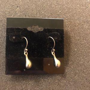 Lia Sophia Silver Droplet Dangle Earrings